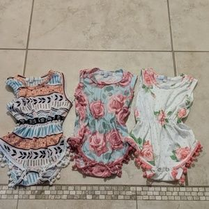 Baileys Blossoms Set of 3 onesies